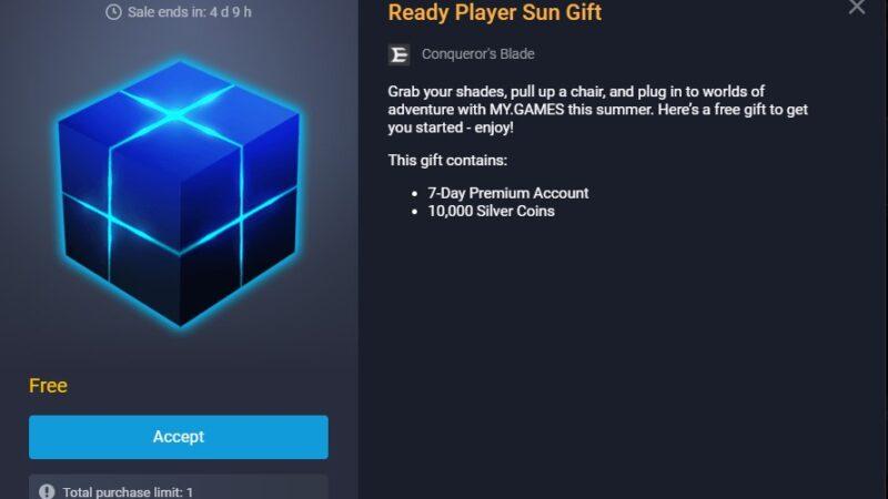 Ücretsiz 7 Gün Premium ve 10K Gümüş | Conqueror's Blade