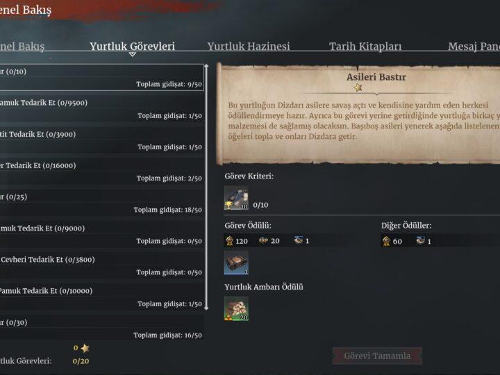 Yurtluk (Fief) Görevi Rehberi | Conqueror's Blade