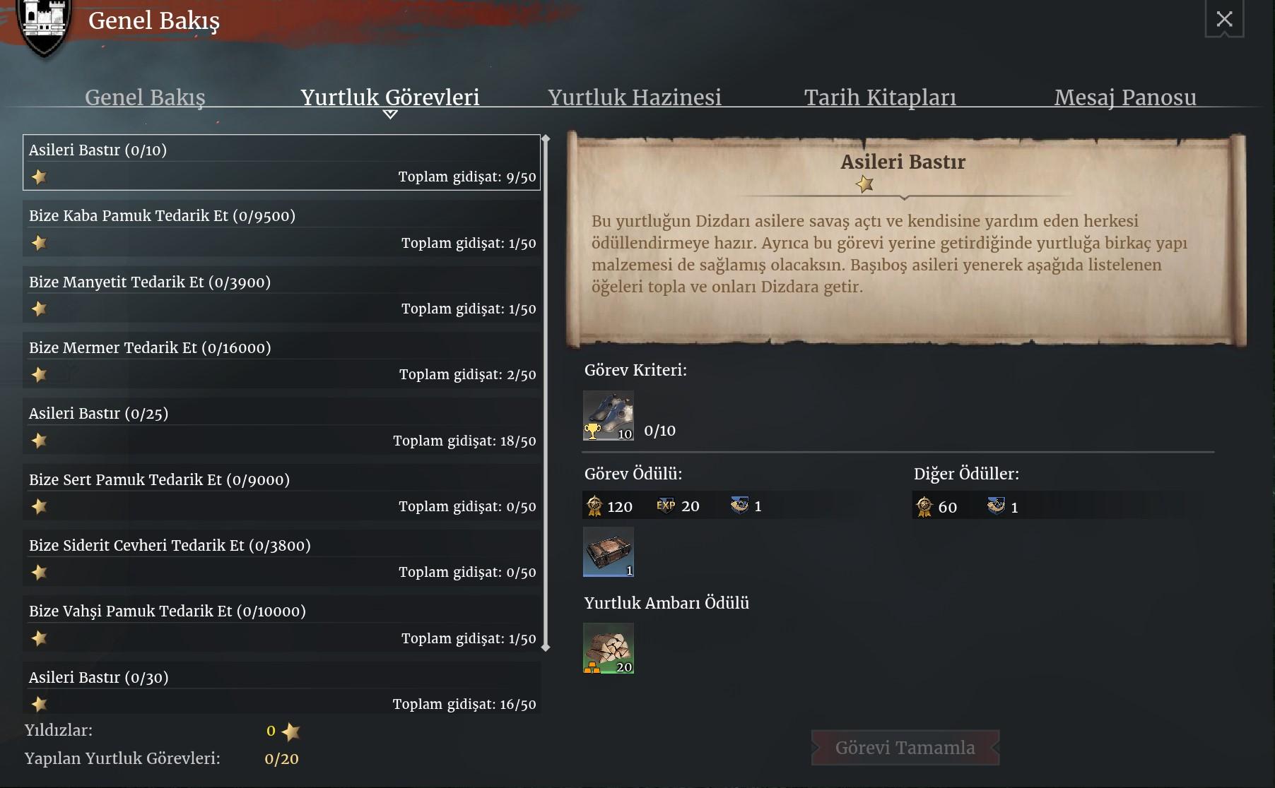 Yurtluk (Fief) Görevi Rehberi   Conqueror's Blade