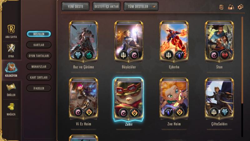 Legends of Runeterra Deste Kapağı Nasıl Değiştirilir?