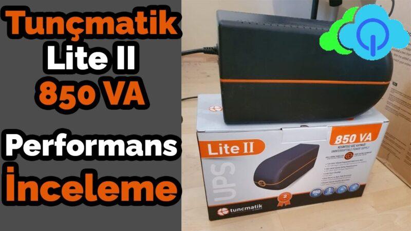 Tunçmatik Lite II 850va Kesintisiz Güç Kaynağı UPS – İnceleme – Performans