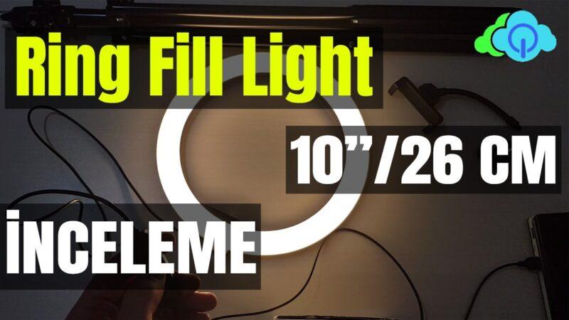 Ring Fill Light – Tripodlu Halka Led Işık Kutu Açılışı – İnceleme – Kurulum